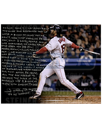 Steiner Sports Johnny Damon Signed 04' Red Sox Story Photo