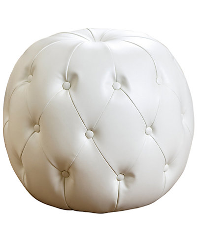 Hunter Tufted Leather Ottoman