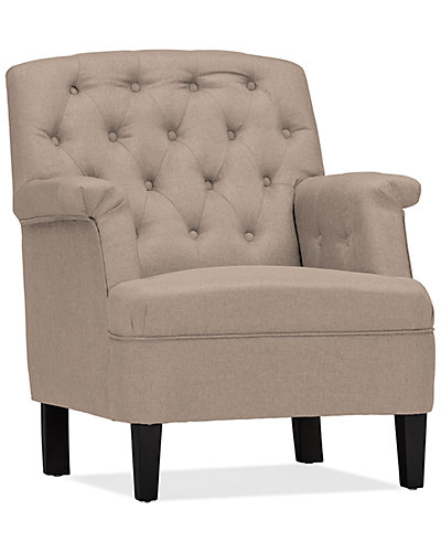 Jester Upholstered Button-Tufted Armchair