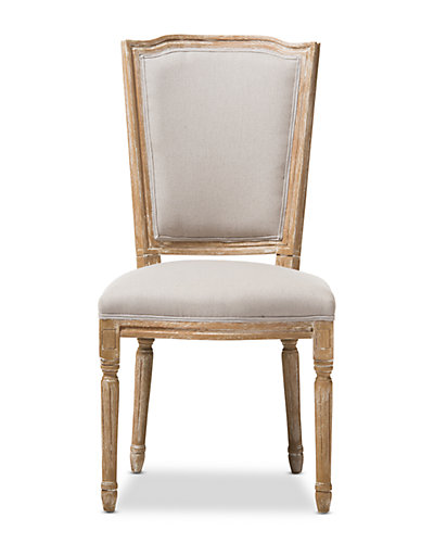 Estelle Chic Rustic Button-Tufted Upholstered Dining Chair