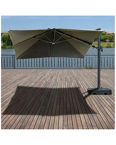 Atlantic Liberty Aluminum Square 10ft x 10ft Patio Umbrella with Base
