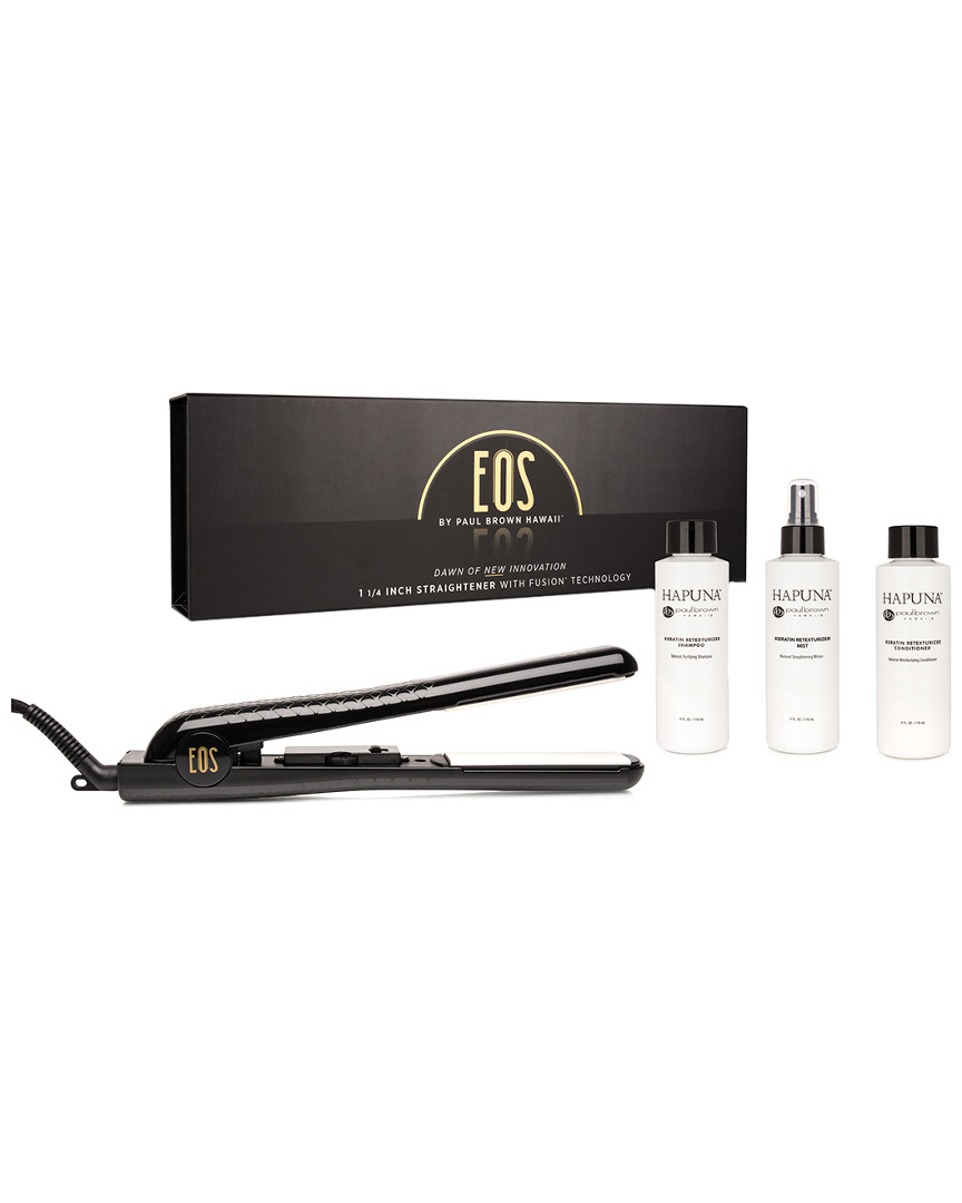 Paul Brown Hawaii Eos 1.25In Ceramic Flat Iron & Keratin Treatment Set 41203375670000