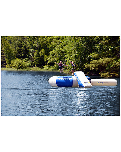 RAVE Sports Splash Zone Plus 16ft Lake Bouncer with Slide & Log