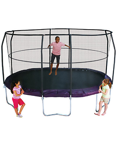 Bazoongi JumpPod Premium Oval 8ft x 14ft Trampoline
