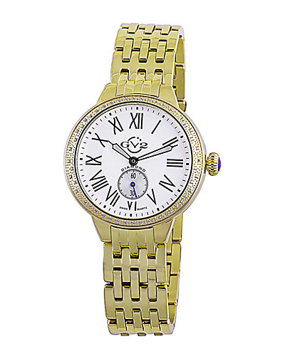 GV2 by Gevril Women's Astor Diamond Watch with Interchangeable Strap