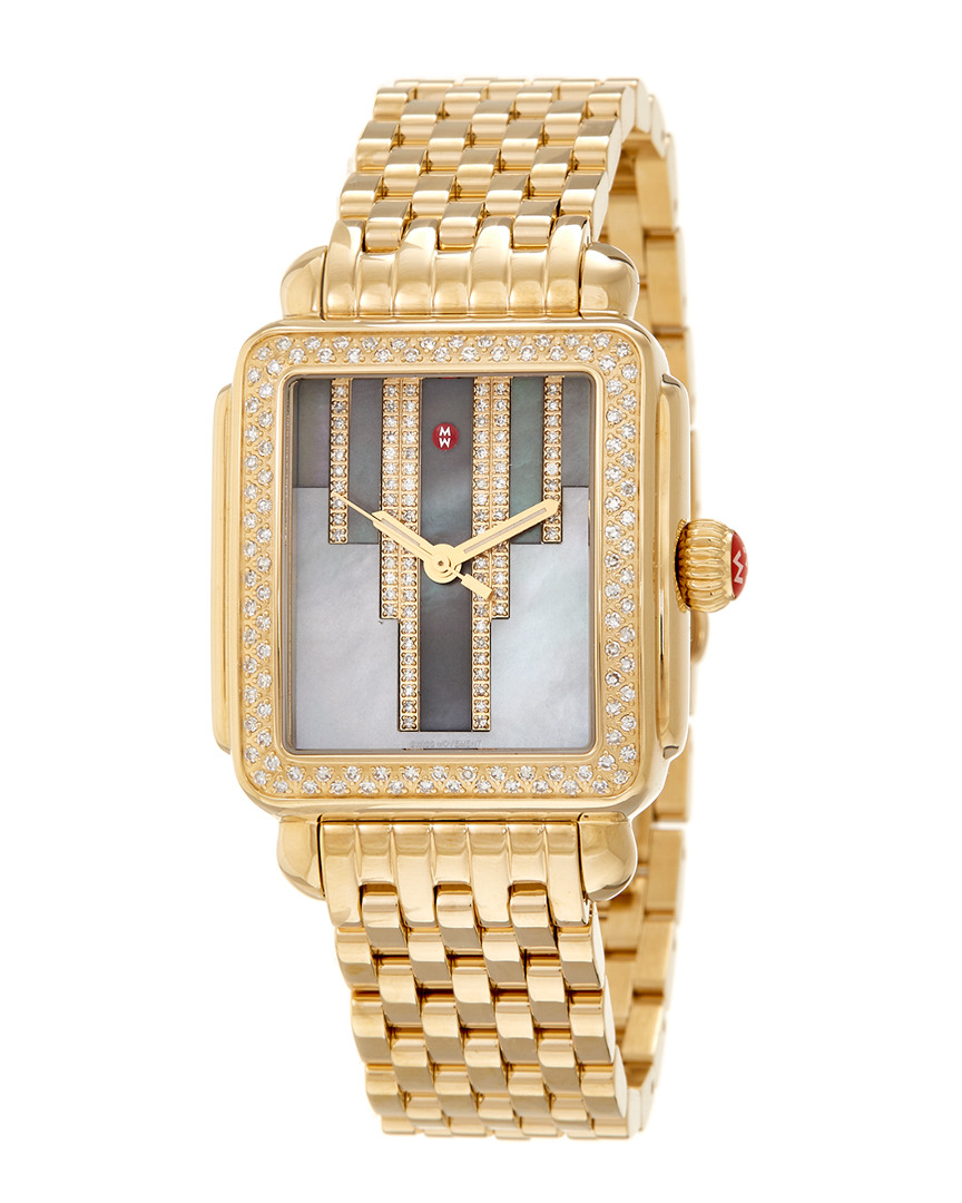 Michele STAINLESS STEEL DIAMOND WATCH