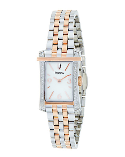 Bulova Accutron Women's Stainless Steel Diamond Watch