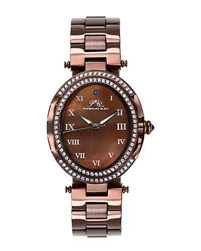 Porsamo Bleu Women's South Sea Oval Crystal Watch