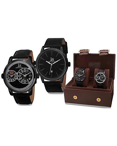 Joshua & Sons Men's Watch Gift Set