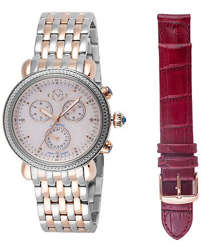 GV2 by Gevrill Women's Marsala Watch with Interchangeable Strap