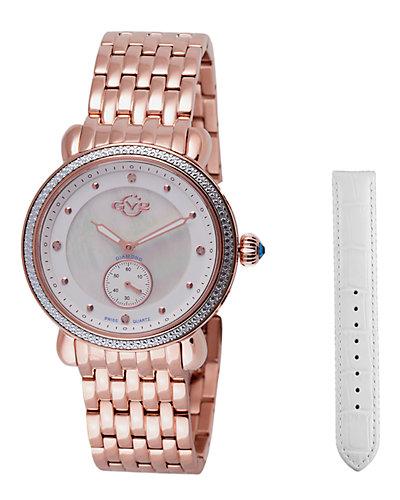 GV2 by Gevrill Women's Marsala Sub Eye Diamond Watch