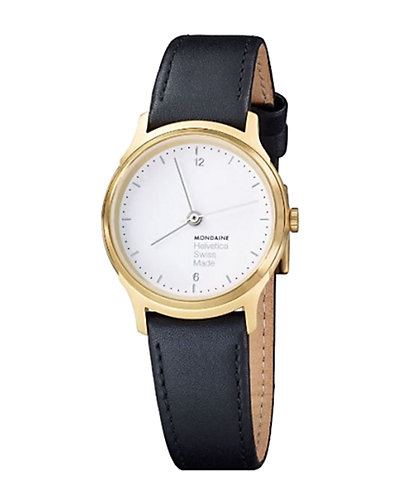 Mondaine Helvetica Leather Watch