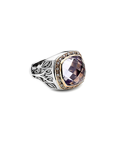 TACORI 18K & Silver 8.11 ct. tw. Amethyst & Diamond Ring