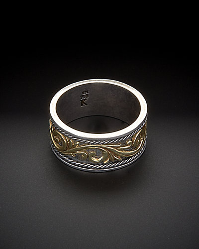 Konstantino Men's Silver & Gold Classics 18K & Silver Scrollwork Ring