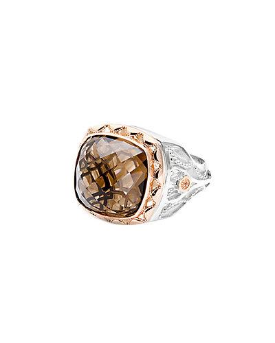 TACORI 18K Rose Gold & Silver 8.30 cttw. Quartz Ring