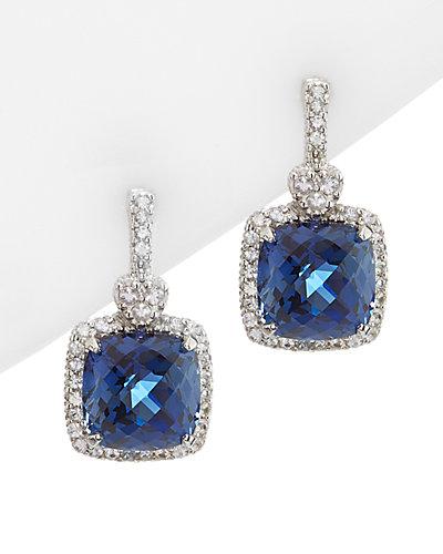 Judith Ripka Lola Silver & 18K 12.72 ct. tw. Sapphire & Corundum Earrings