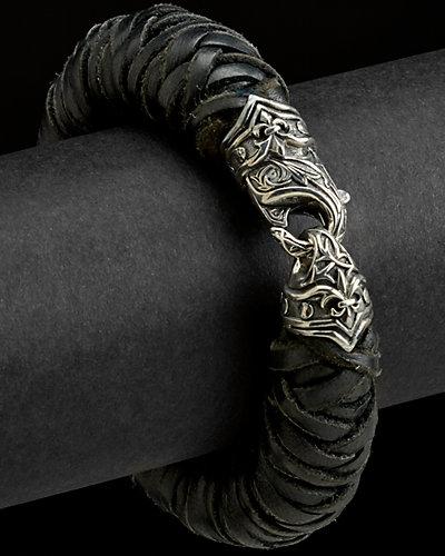 Scott Kay Silver & Leather Bracelet