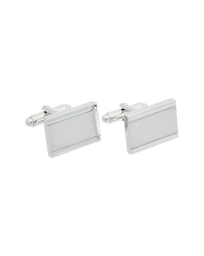 Link Up Plated Rectangle Cufflinks