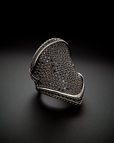Scott Kay Silver & Black Ruthenium 2.00 ct. tw. Black Spinel Men's Ring