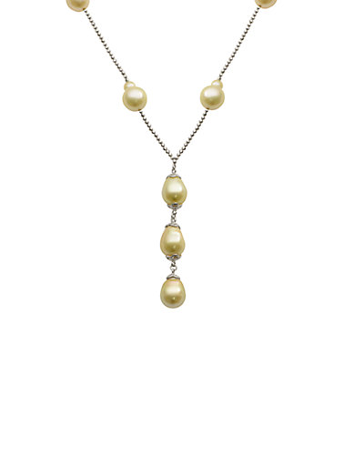 Silver 10-12mm South Sea Pearl Necklace