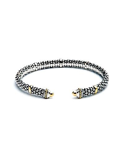 """LAGOS """"Signature Caviar"""" 18K & Silver Cuff"""