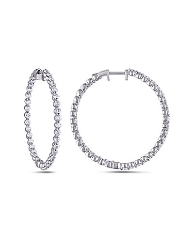 14K 2.16 ct. tw. Diamond  Hoops
