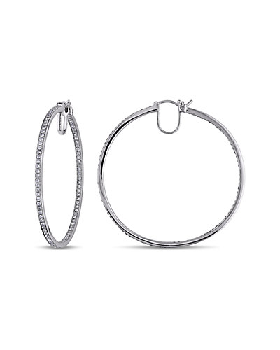 14K 1.80 ct. tw. Diamond Hoops