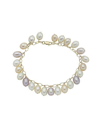 14K 6-6.5mm Freshwater Pearl Bracelet