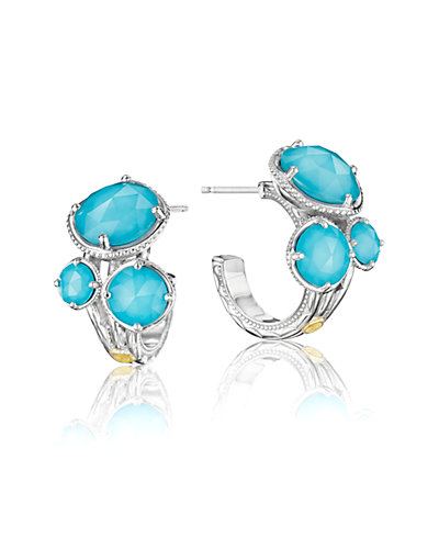 TACORI Island 18K & Silver 11.92 ct. tw. Quartz Doublet Hoop Earrings