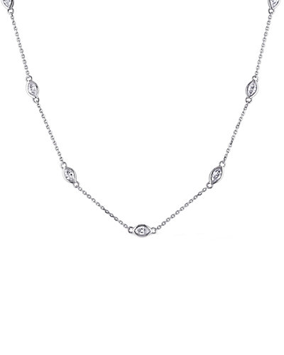 14K 0.84 ct. tw. Diamond Station Necklace