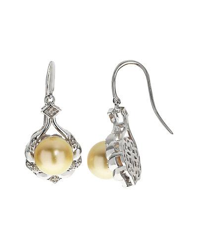 Silver 9-10mm South Sea Pearl Earrings