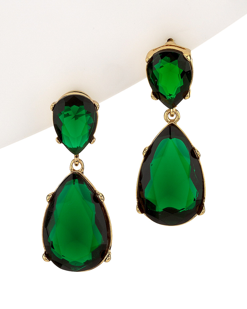 Image Is Loading Kenneth Jay Lane Jolie Crystal Drop Earrings Green
