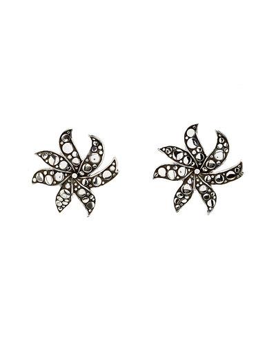 """John Hardy """"Dot"""" Silver Flower Earrings"""