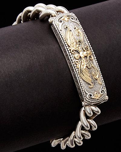Konstantino Eros 18K & Silver Etched ID Link Eagle Toggle Bracelet