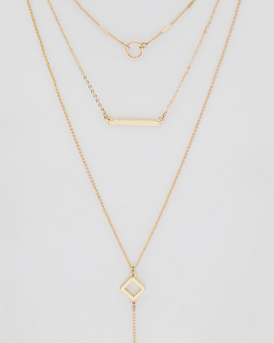 Loren Olivia Layered Geometric Necklace