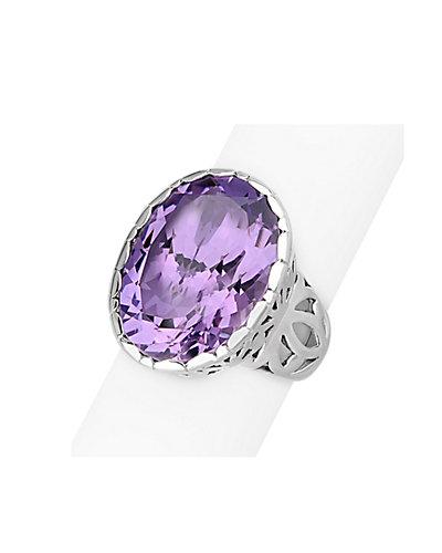 Janice Girardi Silver 15.37 ct. Amethyst Ring