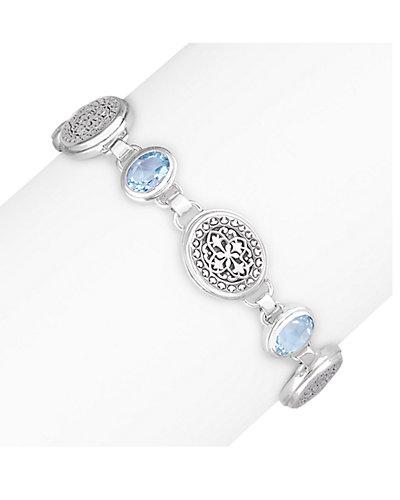 Janice Girardi Silver 7.25 ct. Topaz Bracelet