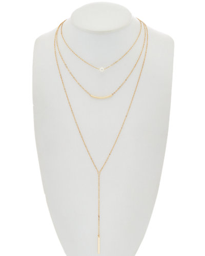 Flint & Mortar Pearl Triple Layer 30in Necklace
