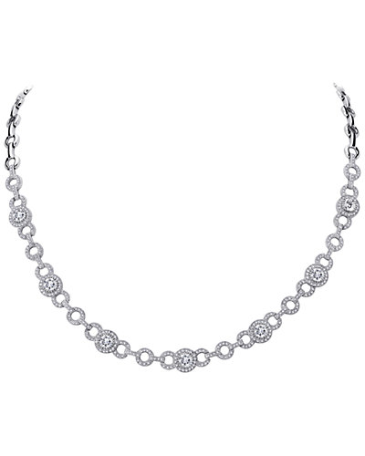 Lafonn Platinum over Silver Simulated Diamond Necklace