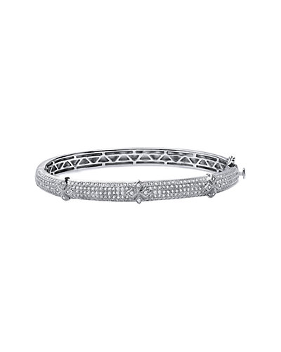 Lafonn Platinum over Silver Simulated Diamond Dome Bracelet