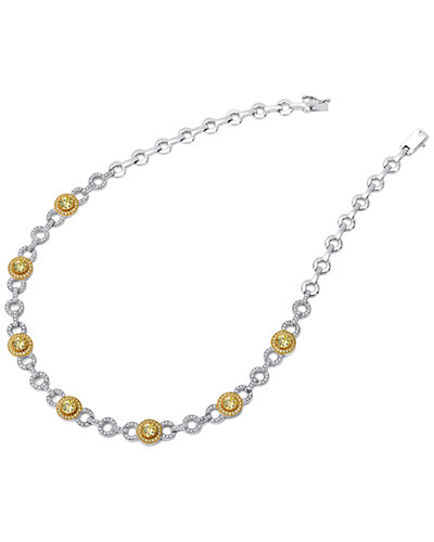 Lafonn 18K over Silver & Platinum over Silver Simulated Diamond Necklace