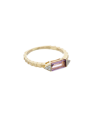 Ron Hami Color Story 14K 0.73 ct. tw. Diamond & Amethyst Ring