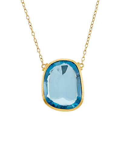 GURHAN One of a Kind 24K 33.97 ct. tw. Blue Topaz Necklace