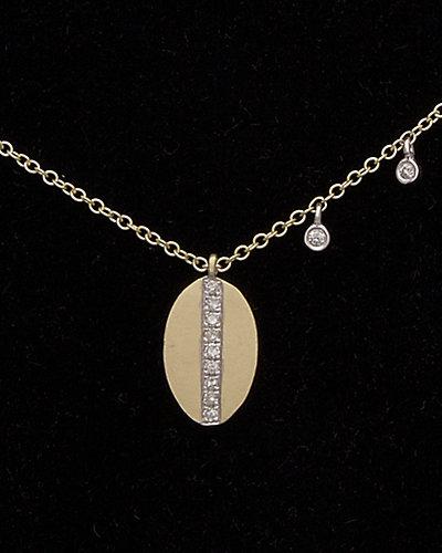 Meira T 14K 0.08 ct. tw. Diamond Disc Necklace