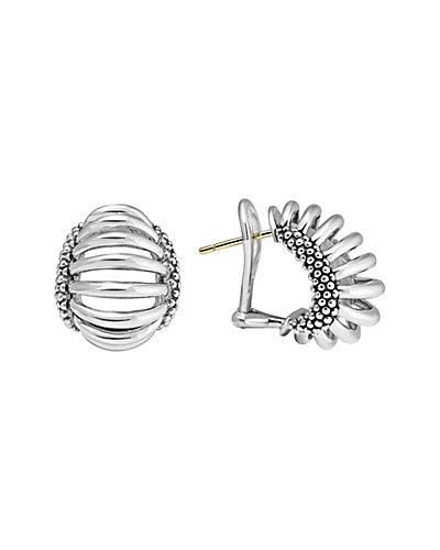 LAGOS Signature Caviar Silver Earrings