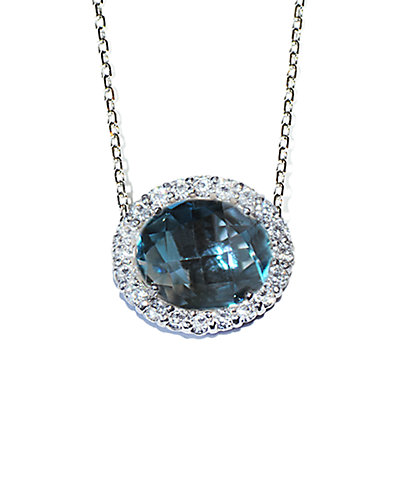 Anzie Royale Silver 7.00 ct. tw. Gemstone Necklace
