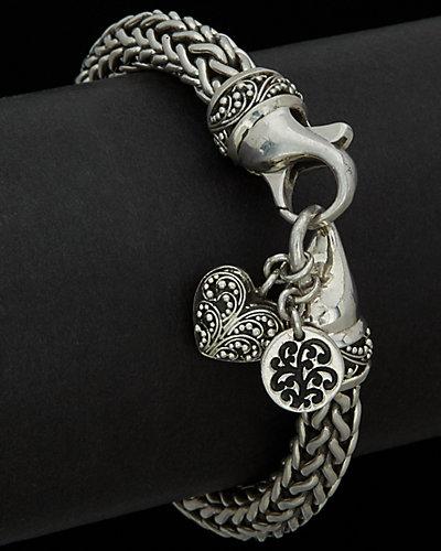 Lois Hill Classic Silver Woven Bracelet