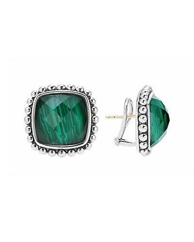 LAGOS Maya Silver  Malachite Doublet  Earrings