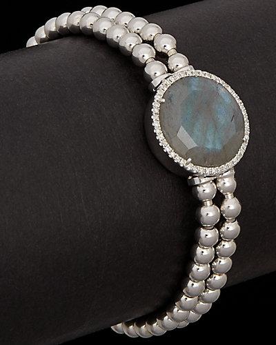 Meira T 4.78 ct. tw. Diamond & Labradorite Stretch Bracelet