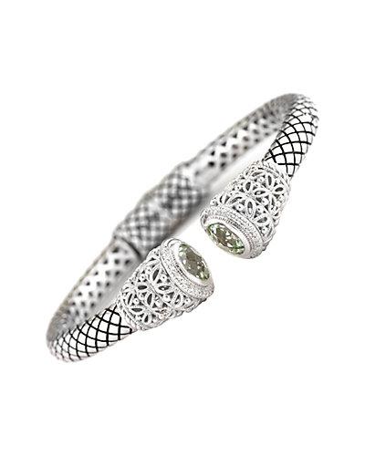 Andréa Candela Las Olas 18K & Silver 3.67 ct. tw. Diamond & Green Amethyst Bangle